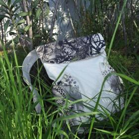 Vintage Τσάντα από Κανβά με Μανιτάρια