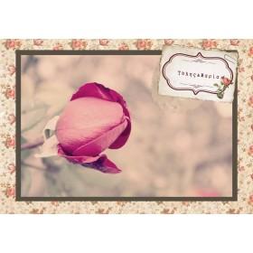 Vintage Προσκλητήριο με Θέμα Τριαντάφυλλο-Καρτ Ποστάλ