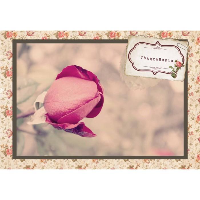0121ed648ee3 Vintage Προσκλητήριο με Θέμα Τριαντάφυλλο-Καρτ Ποστάλ