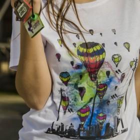 T-shirt με Σχέδιο Αερόστατα