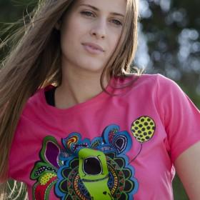 T-shirt με Πολύχρωμο Κόμικ