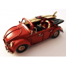 Vintage Κόκκινο Μεταλλικό Αυτοκίνητο Μινιατούρα