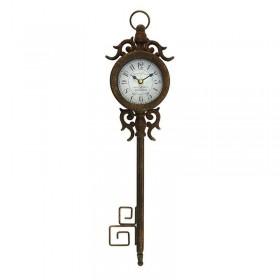 Καφέ Μεταλλικό Ρολόι Τοίχου