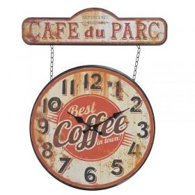 """Μεταλλικό Ρολόι Τοίχου """"Coffee"""""""