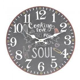Μαύρο Ρολόι Τοίχου