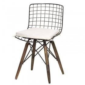 Καρέκλα με μαξιλάρι Rusty Me, Ξύλινη/Μεταλλική