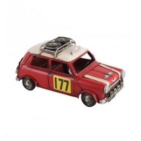 """Κόκκινο Μεταλλικό Vintage Αυτοκίνητο """"Mini"""""""