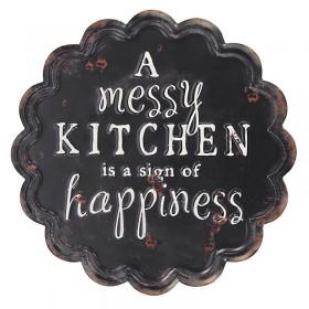 """Μαύρη Μεταλλική Πινακίδα """"Kitchen"""""""