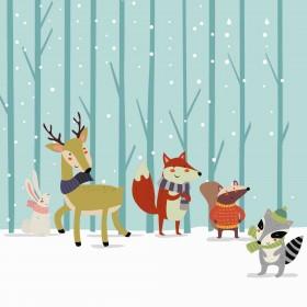 Ταπετσαρία  Winter Friends