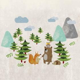 Ταπετσαρία Winter Friends No3