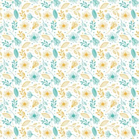 Tαπετσαρία Yellow Floral No 1