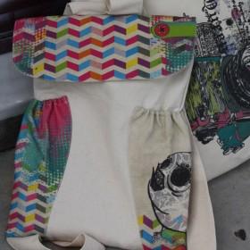 Χρωματιστή Τσάντα από Κανβά