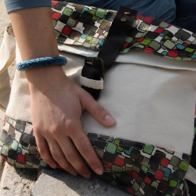 """Boxes"" Τσάντα από Κανβά"