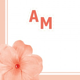 Μίνιμαλ Προσκλητήριο Γάμου με λουλούδια